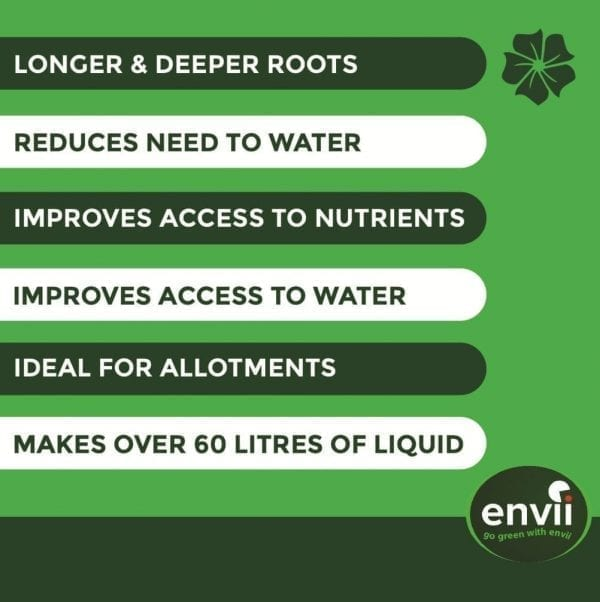 Envii Deep Rooter features for our plant root stimulator