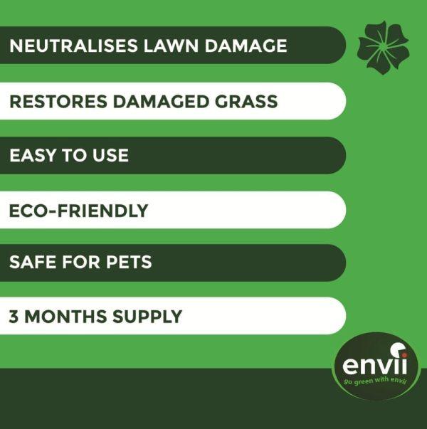 Envii Neuturine features for our dog urine grass repair treatment