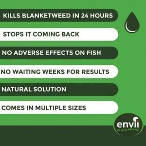 Envii Blanketweed Klear features for our blanket weed killer