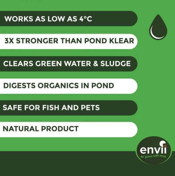 Envii Pond Klear Xtra features to clear pond water
