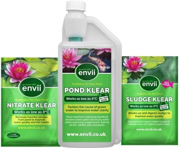 front view of Envii Annual Pond Treatment packaging for our pond treatment