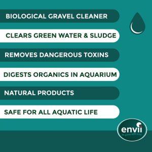 Envii Aquarium Klear features to clear green aquarium water