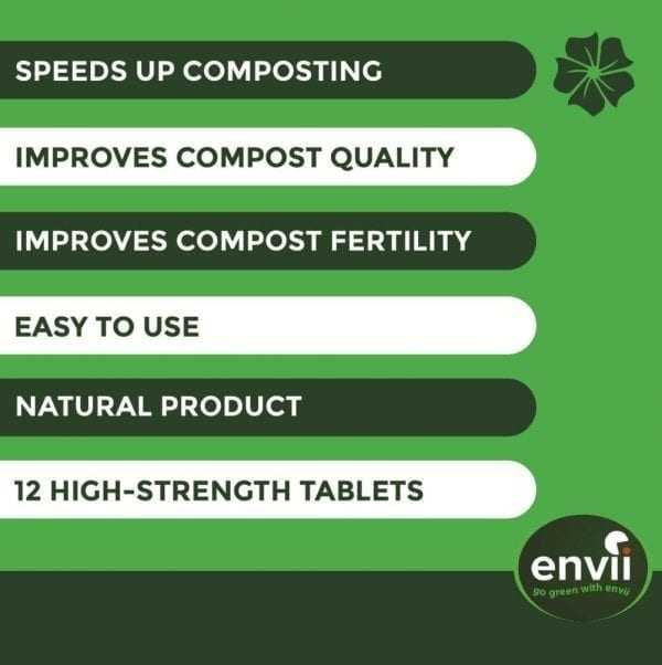 Envii Compost Accelerator features for our organic compost accelerator