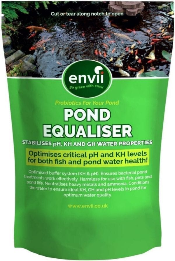 front view of Envii Pond Equaliser packet our pond ph buffer