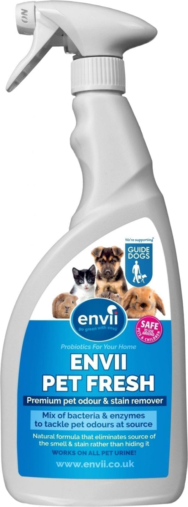front view of Envii Pet Fresh bottle our pet urine cleaner