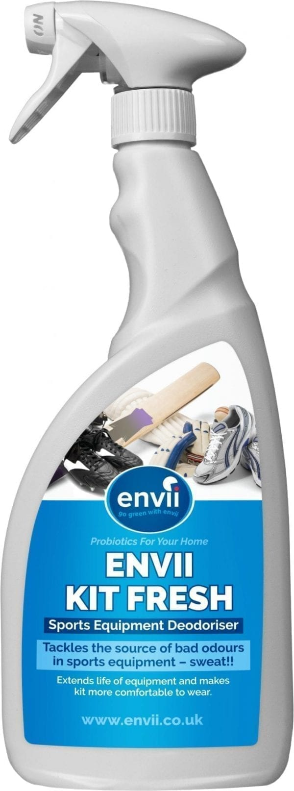 front view of Envii Kit Fresh bottle our sports equipment odour eliminator