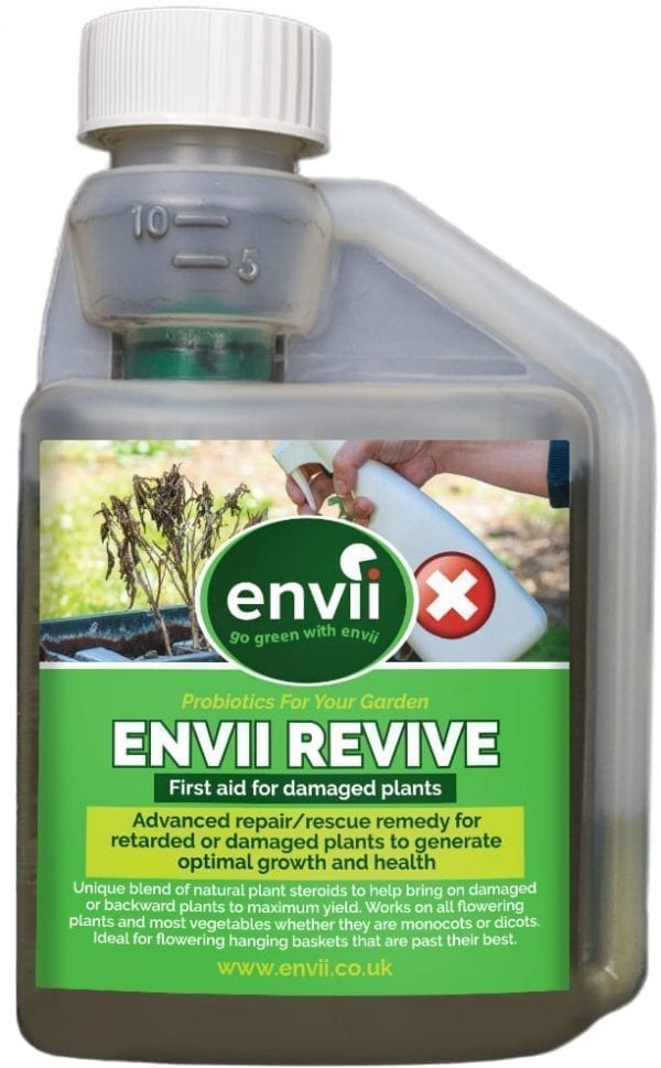 front view of Envii Revive bottle to revive plants
