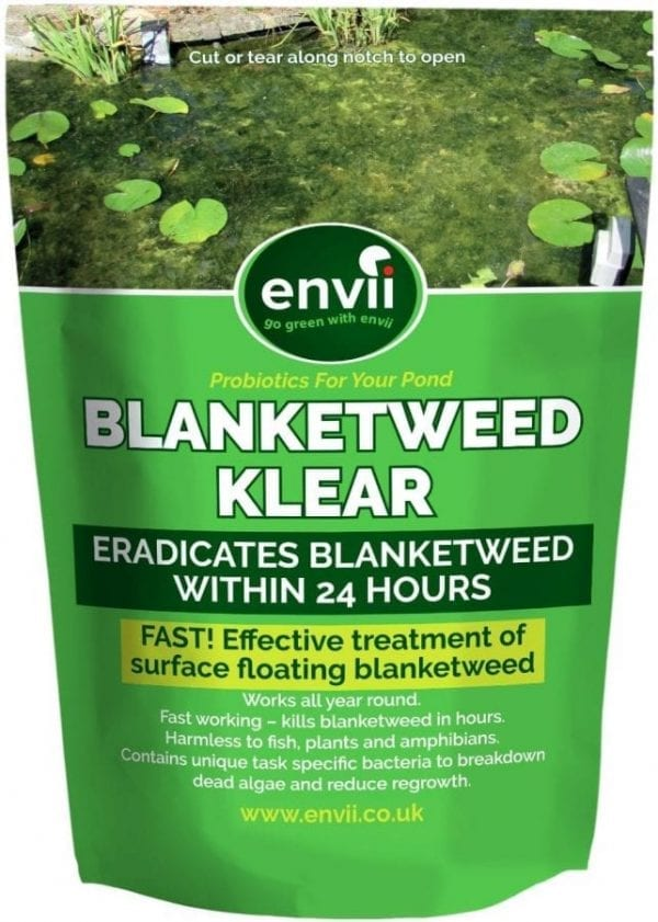 front view of Envii Blanketweed Klear packet our blanket weed killer