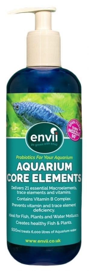 front view of Envii Aquarium Core Elements bottle or aquarium elements