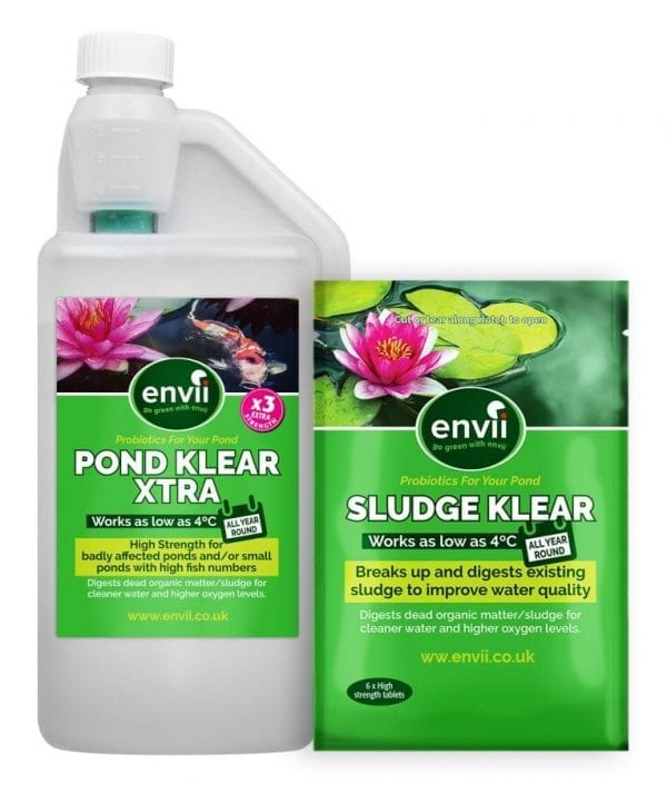 Pond Klear Xtra & sludge Klear for keeping pond water clear