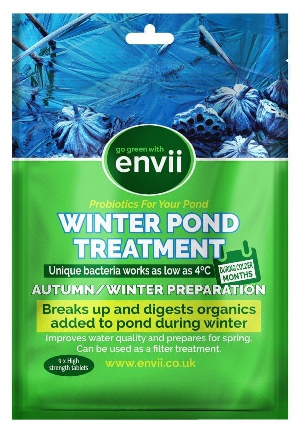 front view of Envii Winter Pond Treatment packet