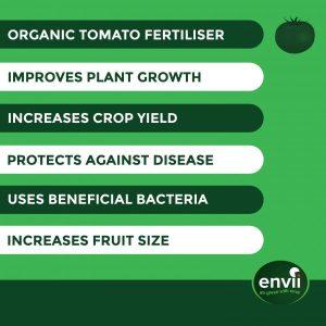 Envii Maximato organic tomato fertiliser features