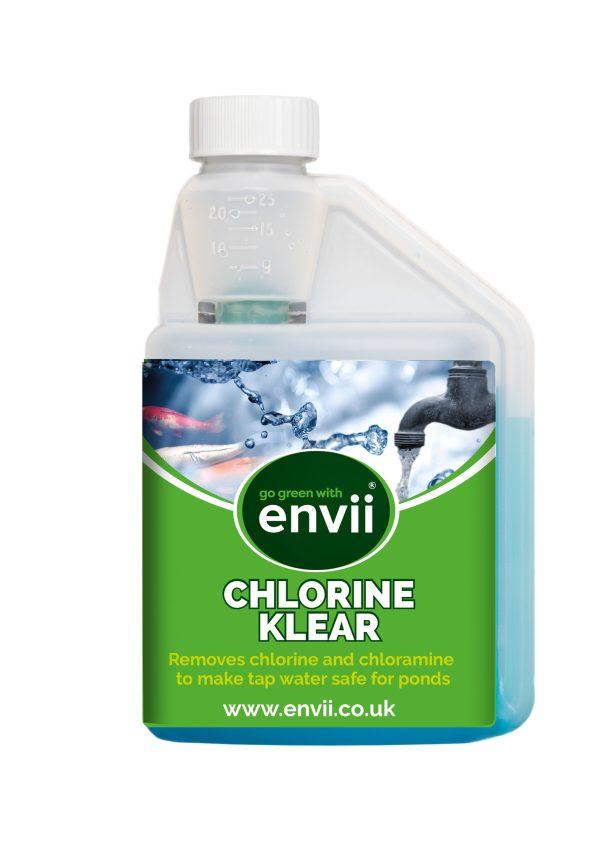 Envii Chlorine Klear pond dechlorinator bottle front