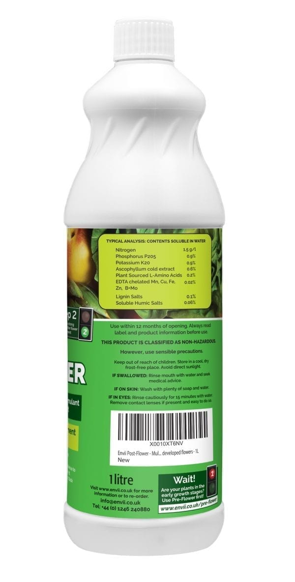 Envii Post-Flower organic multi purpose fertiliser